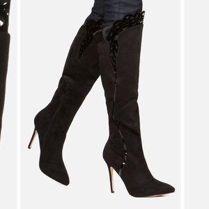Shoedazzle Halaria, Black Knee High Boots